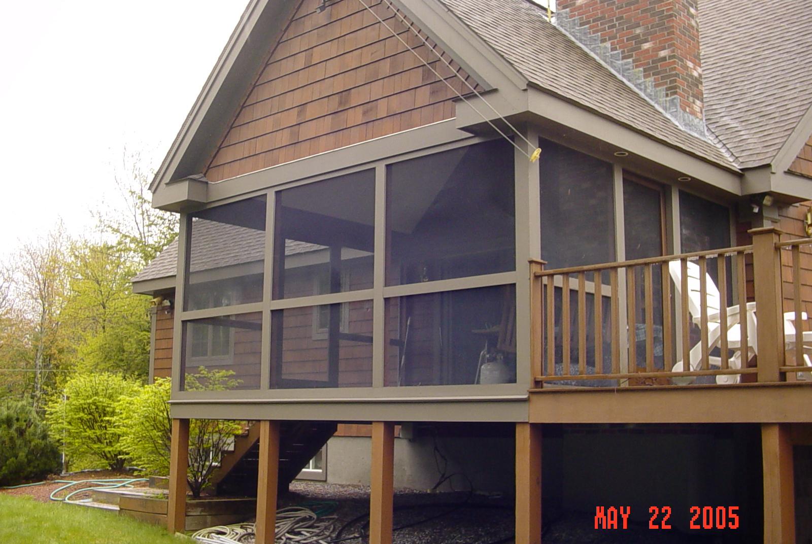 Screen porch to 3 season porch c g construction co for 3 season porch pictures