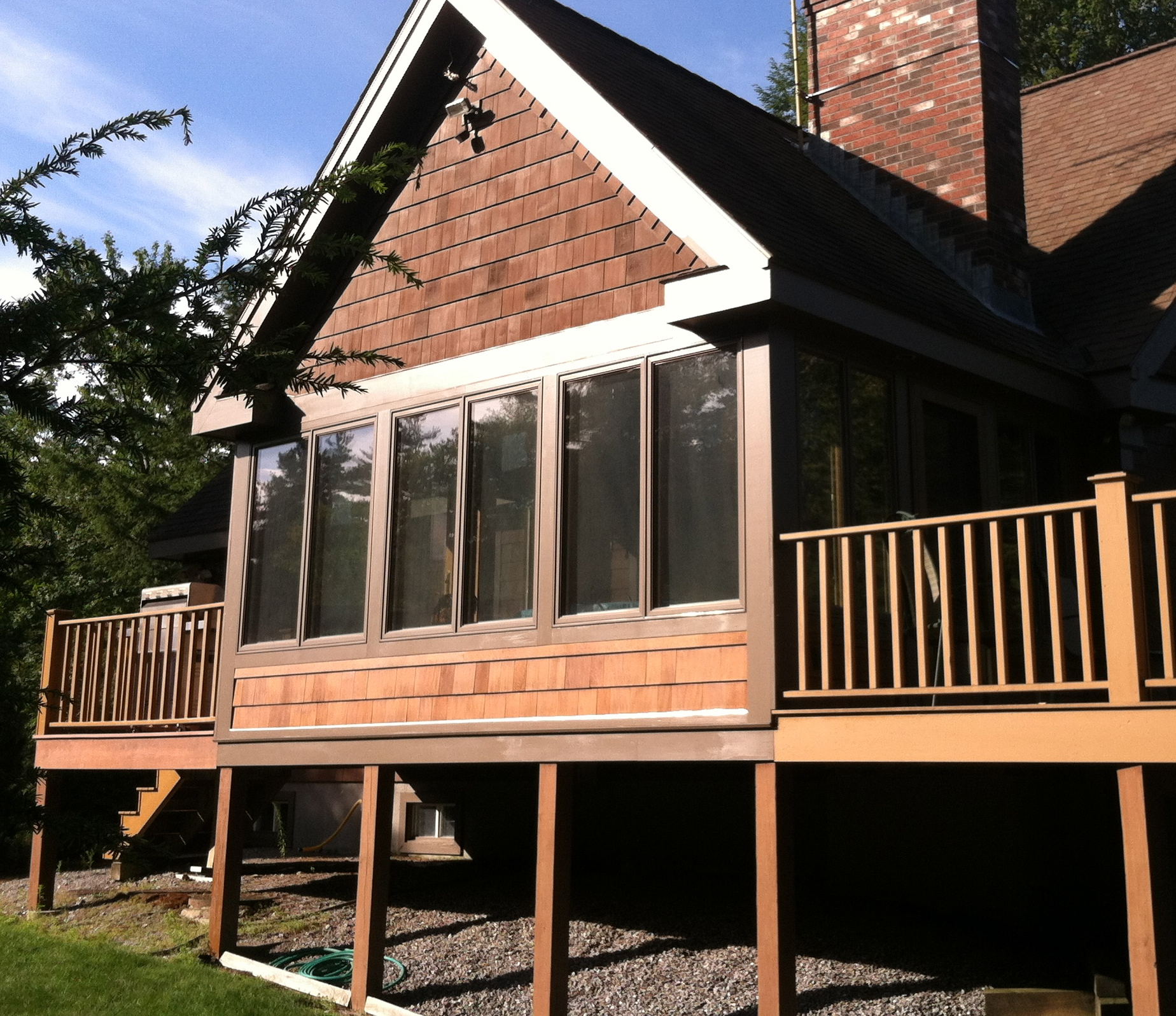 porch improvements season plans home three lively rooms
